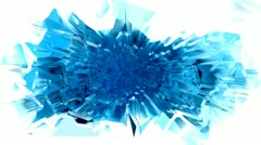 Blue chromatic ice cube plasma spray with matte - stock footage