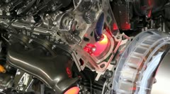 Futuristic hybrid car engine Stock Footage