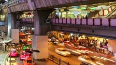 CITY TRAFFIC AT NIGHT - BANGKOK TIME LAPSE Stock Footage