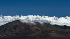 Haleakala Clouds, Timelapse, Maui, Hawaii, USA - stock footage