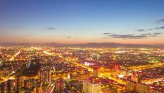 4k resolution time lapse, Beijing city sunset Stock Footage