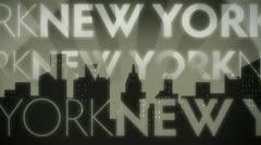 New York Noir Retro Loop Stock Footage