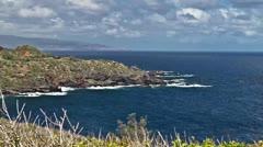 Kahakuloa Bay, Timelapse, Maui, Hawaii, USA Stock Footage