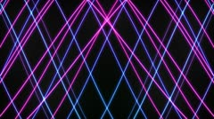 Pink and Blue Laser Loop Isolated Stock Footage