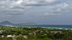 Diamond Head Crater Park Pan, Timelapse, Oahu, Hawaii, USA Stock Footage