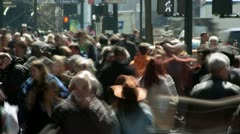 Crowd of people walking time-lapse Stock Footage