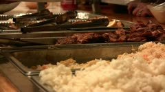 Food Service Catering Close Up Stock Footage