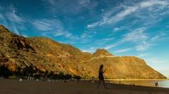 Playa de las Terasitas, Timelapse, Tenerife, Spain Stock Footage