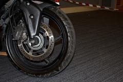 motorbike wheel4 - stock photo