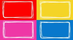 Multicolored Picture Frames Stock Footage