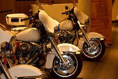 Police motorbike Stock Photos