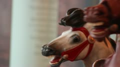 Horses on Jane's Carousel in DuMBo Brooklyn, NY circa March 2013 Stock Footage
