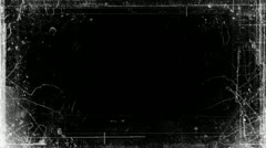Abstract Grunge Video Frame Matte Stock Footage