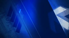 Grunge Header in Blue with White Dot Pattern - stock footage