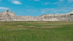 Time Lapse of Scenic Meadow - Badlands National Park 4K - 4096x2304 Stock Footage