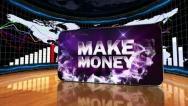 Stock Video Footage of 01 makemoney blue