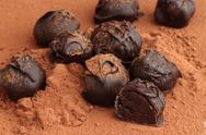 Stock Photo of chocolate truffles
