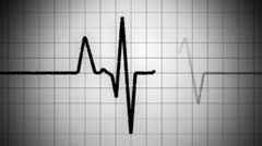 Black And White Grunge Heart Monitor HD Stock Footage