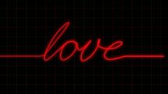 Heartbeat on EKG spells LOVE with Matte Stock Footage