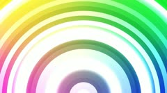 White Soundwaves Expanding over Multi Colored Background Stock Footage