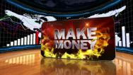 02 makemoney red Stock Footage