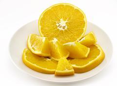 half orange - stock photo