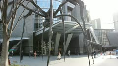 TOKYO - CIRCA MARCH 2013: Louise Bourgeois spider sculpture in Roppongi, Tokyo, Stock Footage