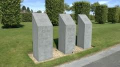 Island of Ireland Peace Park, Mesen, Belgium Stock Footage