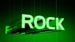 Rock Music Genre Header Stock Footage