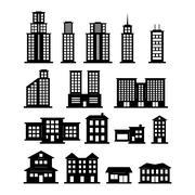 Building set Stock Illustration