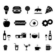 Food and Drinks Icon Stock Illustration