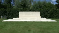 The Remembrance Stone, Berks Cemetery Extension, Belgium Stock Footage