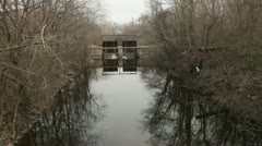 Gateways in the water channel. Stock Footage
