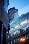 office building in city of london by night - stock photo