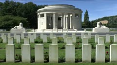 The Ploegsteert Memorial to the Missing, Comines-Warneton, Hainaut,Belgium Stock Footage