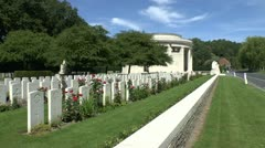 The Berks Cemetery Extension Cemetery, Ploegsteert, Belgium Stock Footage