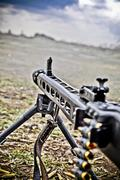 Machine gun Stock Photos