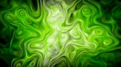 Green Surreal Lava Lamp Stock Footage