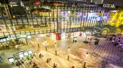 4k resolution shopping mall night time lapse - stock footage