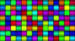 Multi-colored Abstract Mosaic Light Panel Background Stock Footage