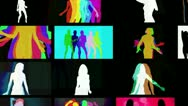 Shadow dancers multi screen Stock Footage