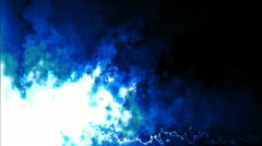 Abstract Blue Smoke Cloud Mortise with Matte Stock Footage