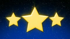 Three Stars And Starfield with Alpha Loop Stock Footage