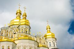 cupola of orthodox church - stock illustration