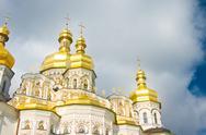 Golden cupola of orthodox church Stock Illustration