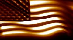 Blurred Sepia US Flag Stock Footage