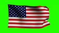 Stock Video Footage of Keyable Flag of USA