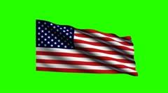 Keyable Flag of USA Stock Footage