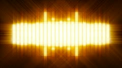 Thin VU Meters with Amber Glow Stock Footage