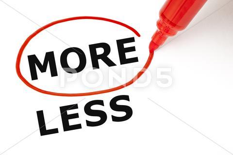 Stock Illustration of more or less